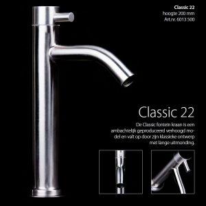 RVS Fontein kraan Classic 22 TA-Design