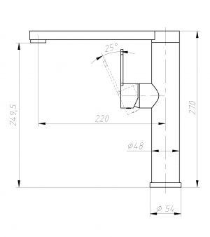 TA-Design Free Style RVS-304 Keukenkraan
