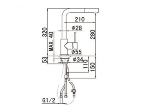 RVS geborstelde Keukenkraan met uitneembare handdouche TA-Design