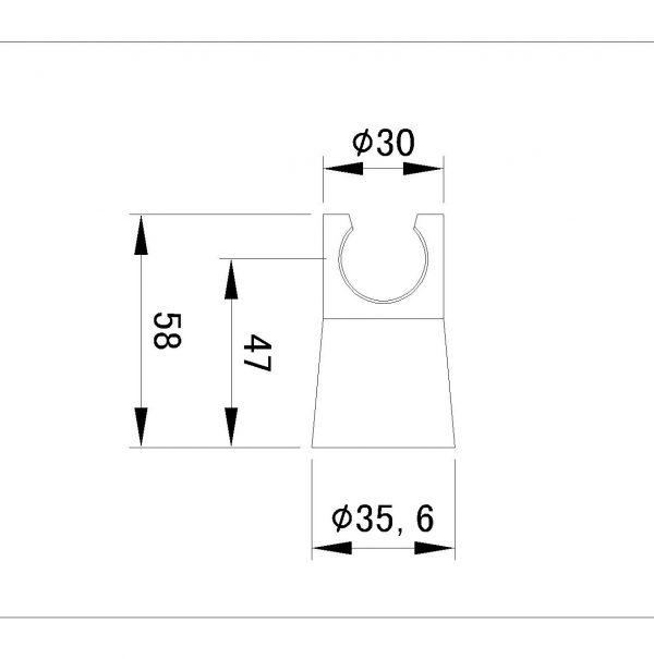 RVS Handdouche drager TA-Design