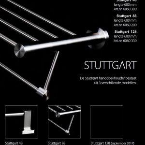 TA-Design RVS Geborsteld Handdoek Rek 60 cm Stuttgart 88 Round