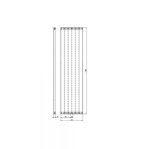 Designradiator verticaal Serie ROMA middenaansluiting 1806x456mm 802W wit