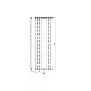 Designradiator verticaal Serie ROMA middenaansluiting 1806x608mm 1070W wit