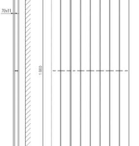 Designradiator verticaal dubbel Serie TIRA middenaansluiting 1800x754mm 1936W wit
