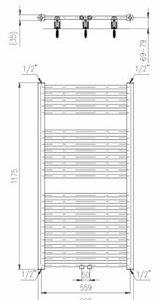 Designradiator horizontaal middenaansluiting 1175x600mm 681W wit