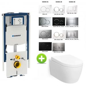Geberit Duofix Sigma UP320 112H toilet set met Carosa One-Pack Design 48 cm