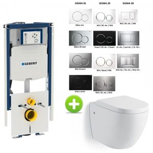 Geberit Duofix Sigma UP320 112H toilet set met Hanson One-Pack Design 55 cm