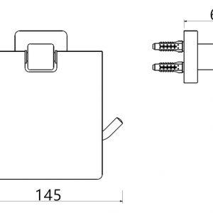 TA-Design RVS 304 Toiletrol houder met klep Model Pico