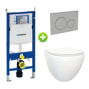 Geberit UP320 Toiletset, Brogali Design - Glans Wit