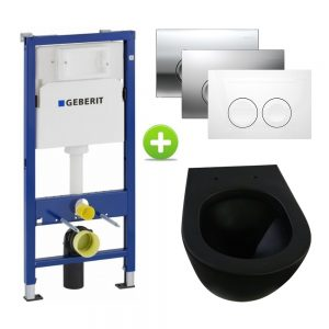 Geberit UP100 toiletset, Brogali Mat zwart