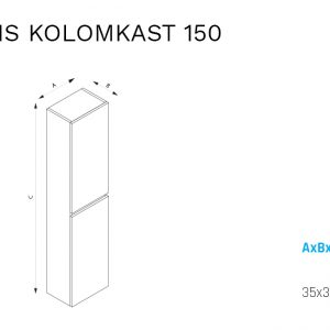 Eris 150 kolomkast-specificaties