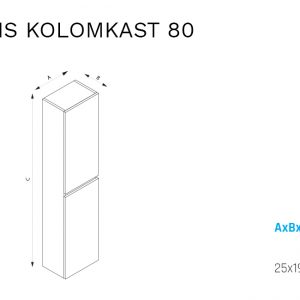 Eris 80 kolomkast-specificaties